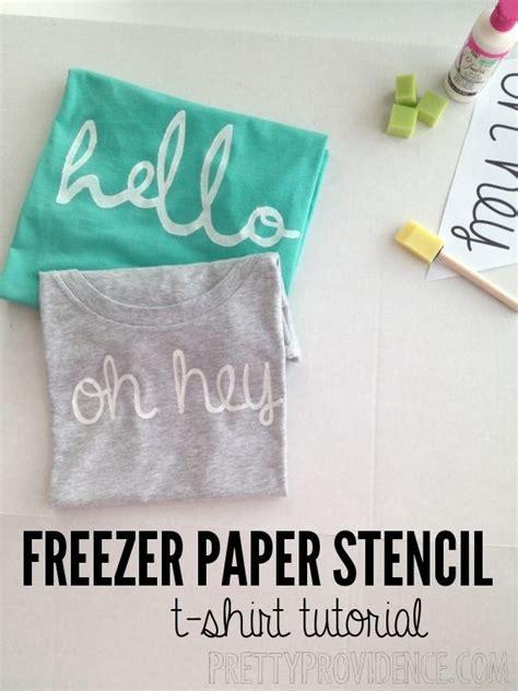 Make Freezer Paper - diy freezer paper stencil shirt freezer paper
