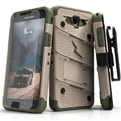 D149 Samsung Galaxy J7 Prime Army Camo Camouflage Shock C149 samsung galaxy j7 prime j727t bolt cover kickstand holster tempered glass lanyard