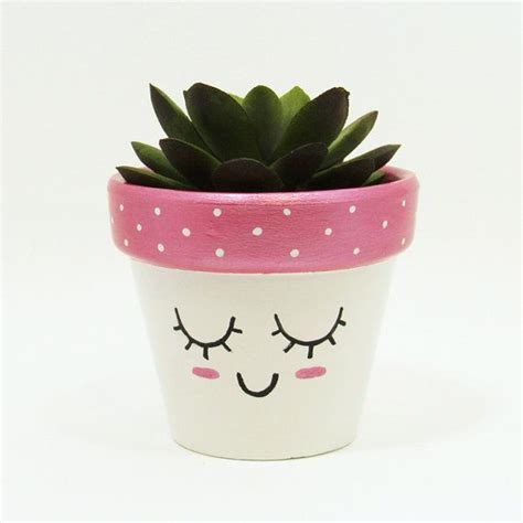cute plant succulent planter terracotta pot cute face planter air