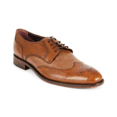 johnston murphy shoes johnston murphy carlock two tone wing tip shoes in brown