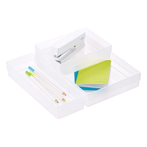 Slotted Interlocking Drawer Organizers by Slotted Interlocking Drawer Organizers The Container Store