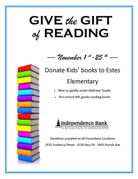 Donate Mba Books by Book Drive Owensboro Ky Independence Bank