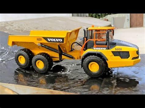 bruder truck volvo ah dump truck  long play video  children youtube