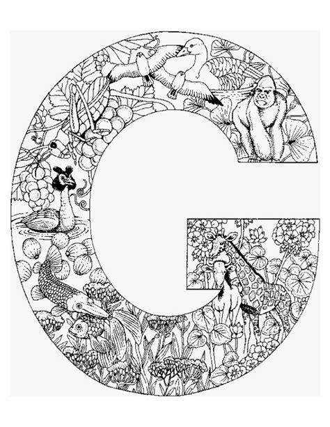G Alphabet Coloring Pages by N 26 Kleurplaten Alfabet Dieren