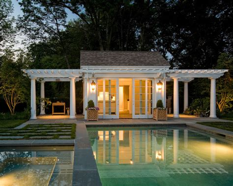 cabana house pool cabana traditional pool boston by merrimack