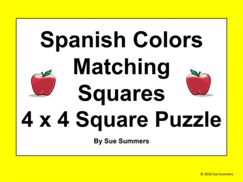 pattern matching spanish spanish colors and patterns matching squares puzzle los