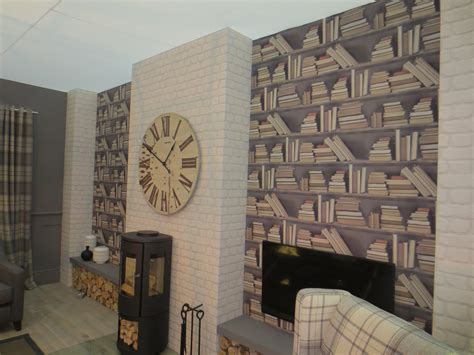 wallpaper living room feature wall ideas dgmagnets