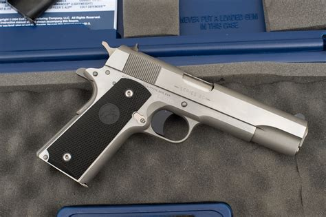 1991 colt government 45acp stainless sold colt 1991 series brushed stainless steel 1911 45
