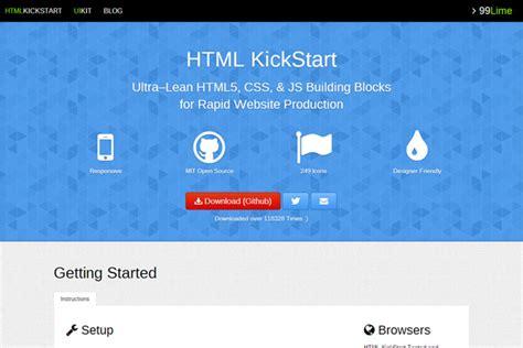tutorial html kickstart top 10 responsive html5 frameworks and tools impact lab