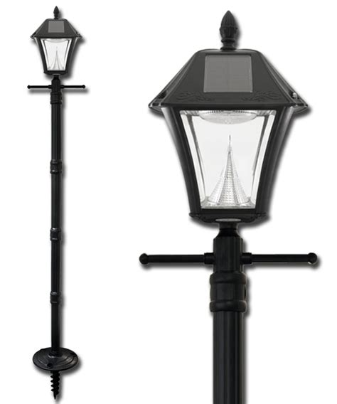 outdoor post light base baytown ii solar l post with ez anchor base