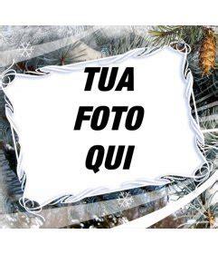 cornici fotomontaggi cornice per foto con motivi invernali e di natale fondo