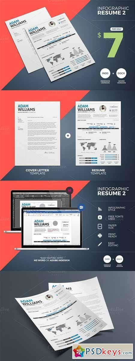 Infographic Resume 2 Word Indesign 349648 187 Free Download Photoshop Vector Stock Image Via Infographic Indesign Template