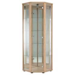Glass Display Cabinets Tesco Buy Bradley Glass Corner Display Cabinet Oak From Our