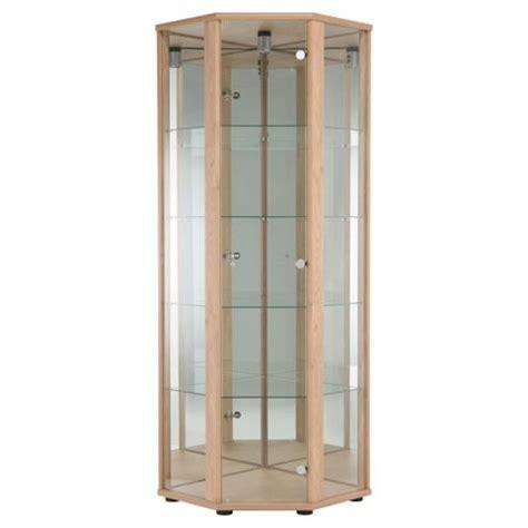 corner glass display cabinet buy bradley glass corner display cabinet oak from our