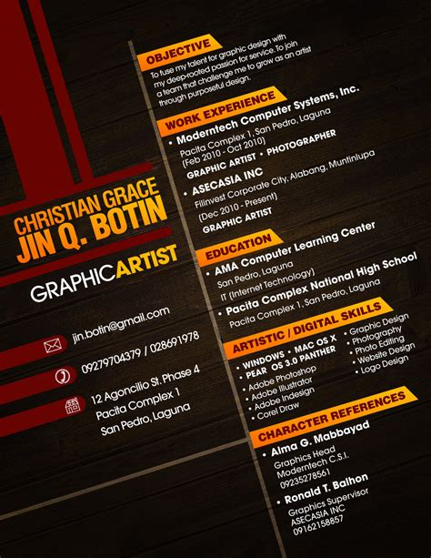 graphic design cv exle resume revival 6 creative ideas from around the web