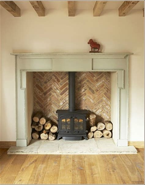 greenwich in general herringbone brick for the fireplace