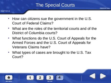 chapter 18 section 3 the supreme court the federal court system
