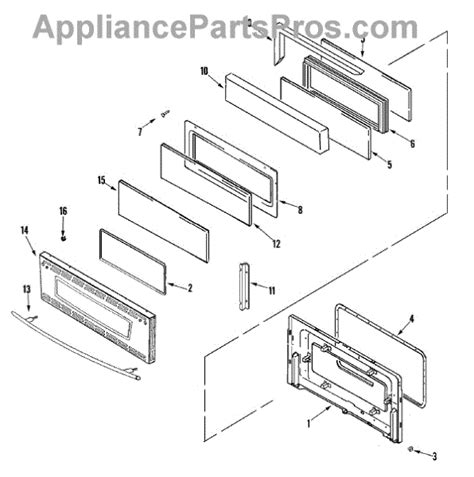 Jenn Air Oven Door Glass Replacement Parts For Jenn Air Jdr8895aas Door Stl Parts Appliancepartspros