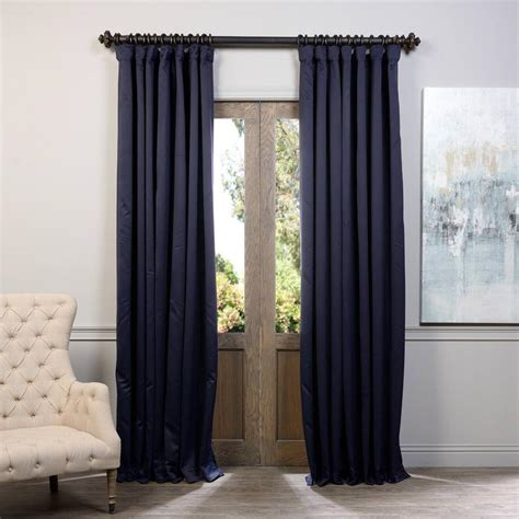 100 blackout curtains exclusive fabrics furnishings navy blue doublewide