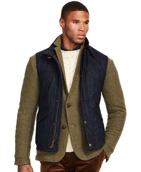 Quilted Wool Vest by Polo Ralph Quilted Wool Vest In Blue For Lyst