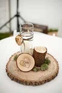 dekoration mit kerzen moderne tischdeko basteln holz kerzen und glas benutzen