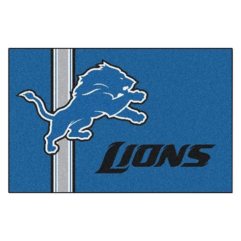 detroit lions rug fanmats nfl detroit lions blue inspired 1 ft 7 in x 2 ft 6 in accent rug 8241