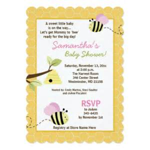 bee baby shower invitations announcements zazzle