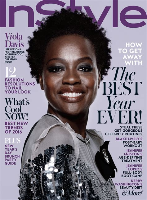 hairstyles magazine 2016 viola davis is instyle s january 2016 cover instyle