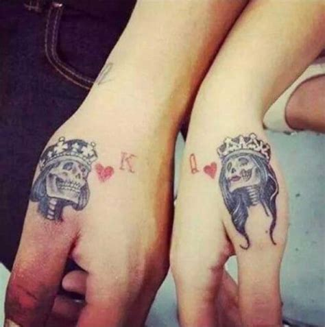 cute tattoo ideas for couples 45 cute king and queen tattoo for couples buzz 2016