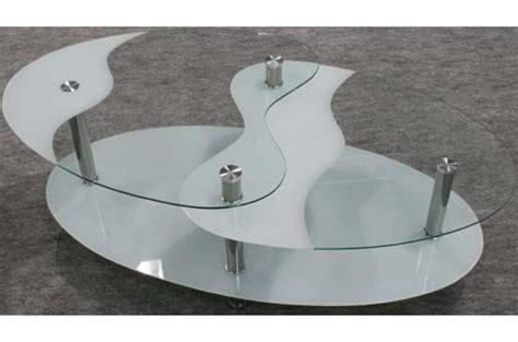 table basse blanche en verre germina table basse pas cher