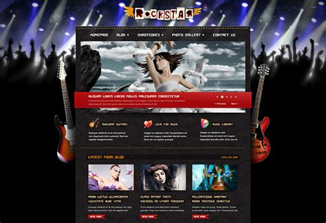 free website templates for musicians image gallery templates