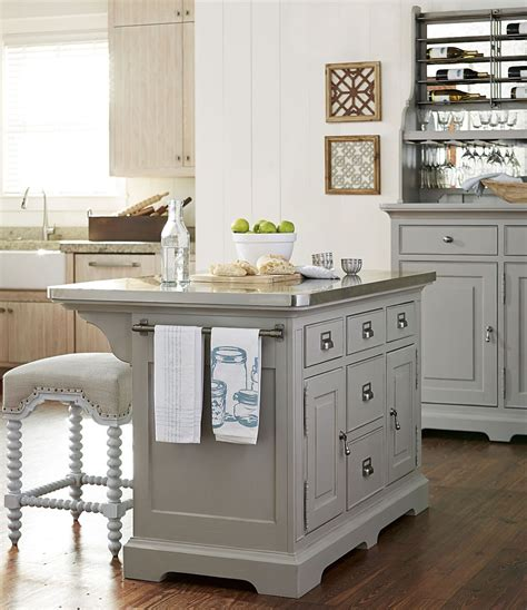 kitchen island sets dogwood cobblestone kitchen island set from paula deen