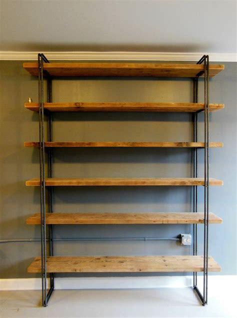reclaimed wood shelf shelving unit