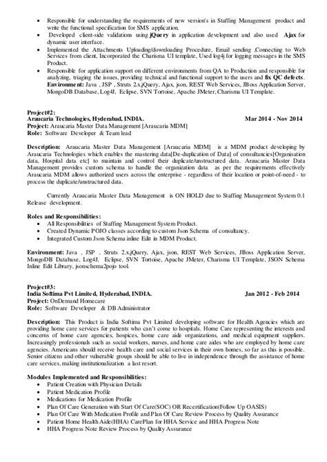 sle resume for java technical lead sharath technical lead resume