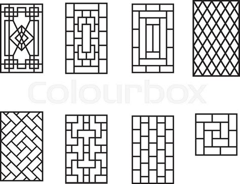 pattern window frame set of chinese pattern window frame vector stock vector