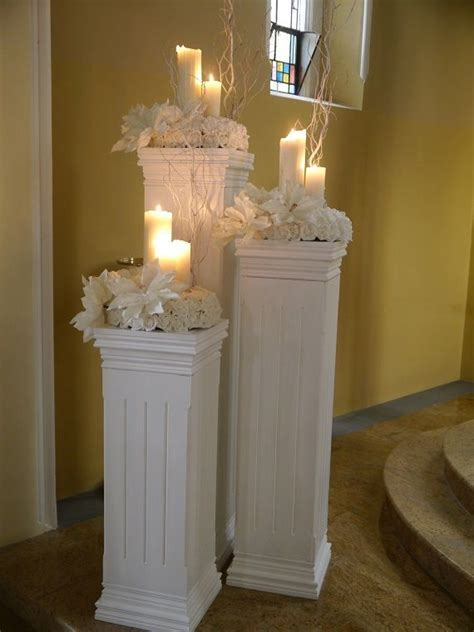 Candle light coloums wedding venue decoration   ??King