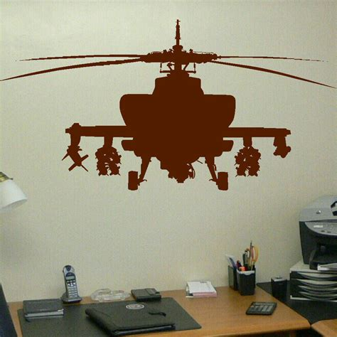 childrens wall mural stickers large army helecopter childrens bedroom wall mural graphic