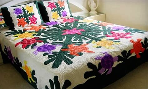 Handmade Hawaiian Quilts For Sale - half handmade hawaiian quilts hawaiian quilt