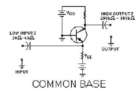 transistor lifier common base common base