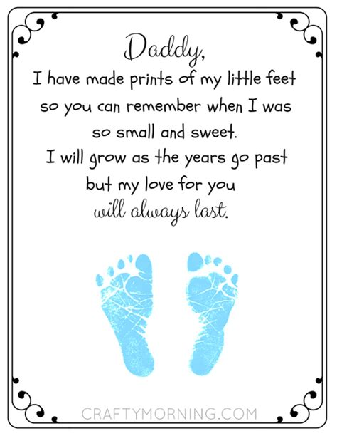 free fathers day poems free printable s day footprint poem crafty morning