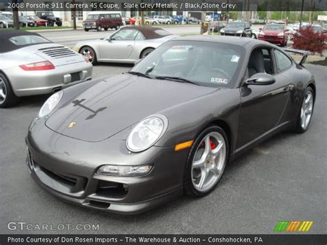 porsche slate grey metallic slate grey metallic 2008 porsche 911 4s coupe