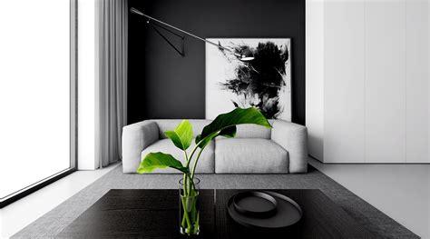 Interior Design Kitchen Living Room 4 monochrome minimalist spaces creating black and white magic