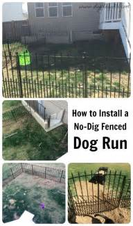 make a dog run in your backyard how to install an easy no dig fenced dog run in one day