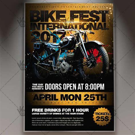 Bike Fest International Premium Flyer Psd Template Psdmarket Bike Flyer Template Free