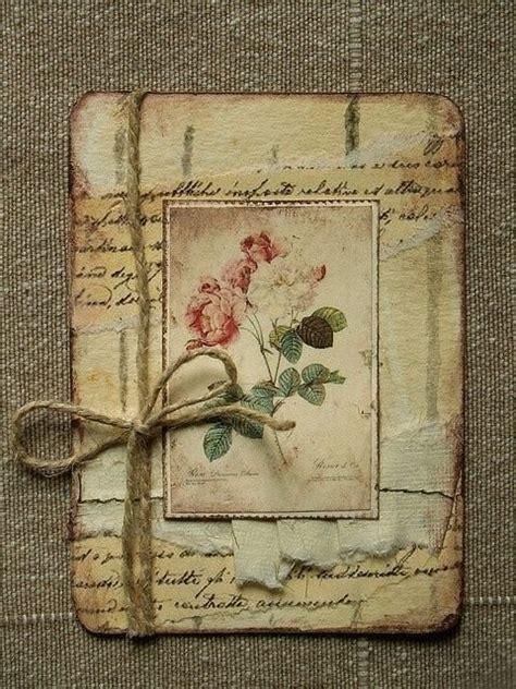 Vintage Handmade Cards - letters