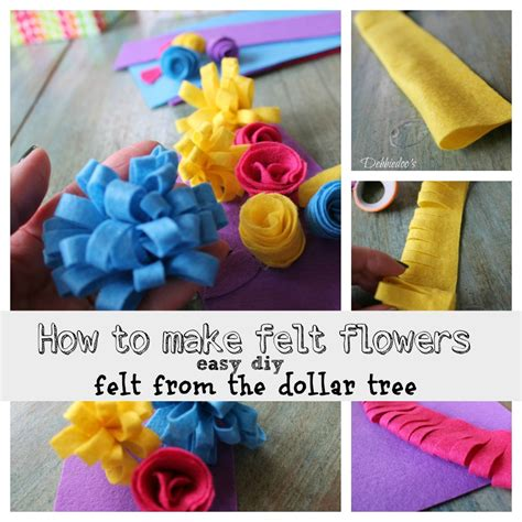 Easy Way To Make Paper Flowers - learn how to make felt flowers debbiedoos