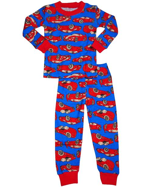 Pajamas Cars s prints boys sleeve racer cars pajamas royal toddler boy sleepwear