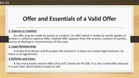 Offer And Essentials Of A Valid Offer Contract Act 1872