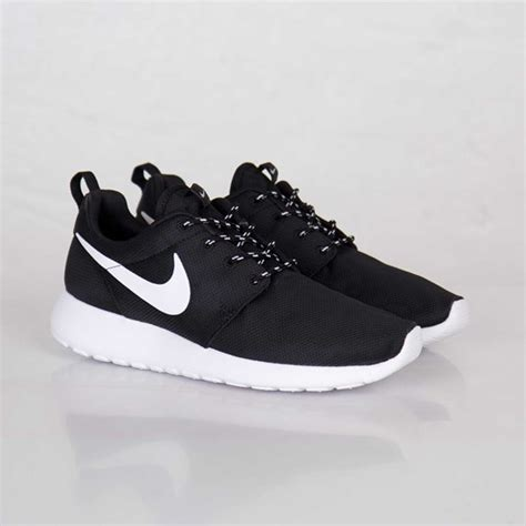 nike wmns roshe run black white volt sneakers madame