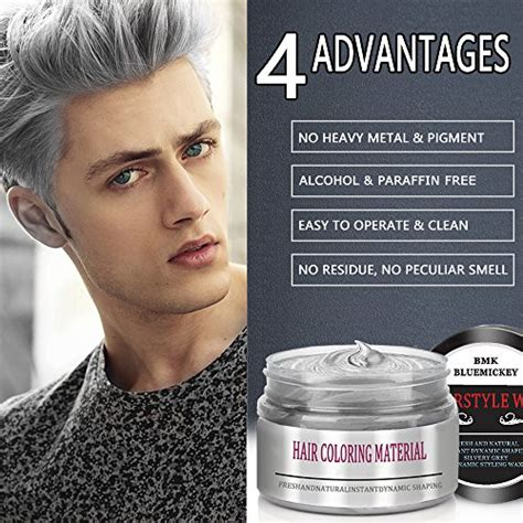 Hairstyle Wax Silver Grey Review by Bmk Silver Gray Color Hair Wax Temporary Silver Ash Wax